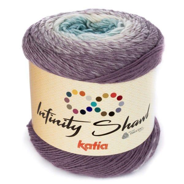 Katia Infinity Shawl, liukuvärjätty huivilanka, kakkulanka