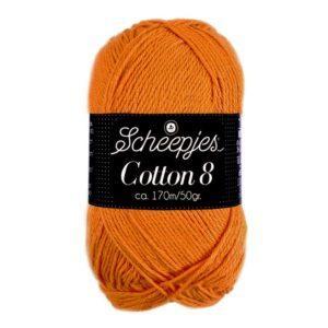 Cotton 8 Scheepjes, pehmeä puuvillalanka, merseroimaton
