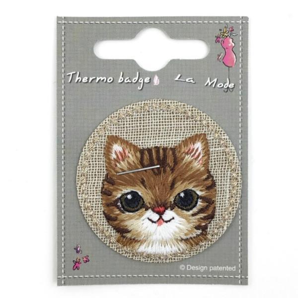 Kangasmerkki kissa. Silitettävä lasten kangasmerkki
