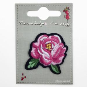 Silitettävä kangasmerkki ruusu